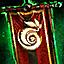 Gipfelflagge der Sylvari