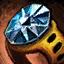 Anneau en orichalque et en diamant noir