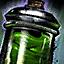 Pot de peinture verte