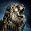 Statue de lion immense