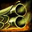 Canon de pistolet en orichalque huilé