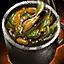 Bol de soupe de moules au curry