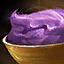 Portion blaue Stampfkartoffeln