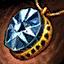 Amulette en orichalque et en diamant noir