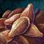 Tas de graines de lin