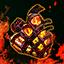 Herz eines Flammen-Abbilds