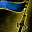 Blue Pirate Flag