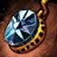 Boucle d'oreille en orichalque et en diamant noir