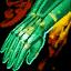 Rembourrage de gants en tulle huilés