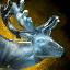 Escultura de hielo de reno