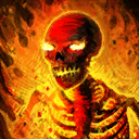 Mini-Charles le squelette du feu infernal