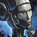 Estatua de caballera mecánica