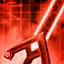 Apparence d'épée d'assassin cramoisie