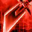 Apparence de dague d'assassin cramoisie