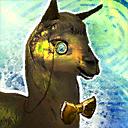 Elegantes Mini Gold-Lama