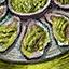 Auster mit Pesto