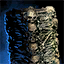 Columna de huesos despertada