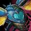 Cœur de scarabée turquoise