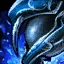 Antiker Kobalt-Blatt-Streitkolben