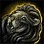 Black Lion Statuette