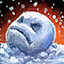 Minibola de nieve enfadada diminuta