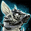 Minicachorro de chacal blanco