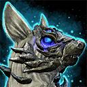 Minicachorro de chacal azul