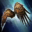 Planeador de alas de halcón