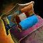 Verziertes Bett