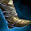 Calzado de héroe glorioso forjado ...