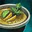 Crème brûlée à la mangue et à la coriandre